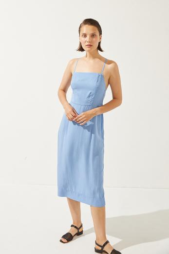 CUS Caracola Dress splash blue | M