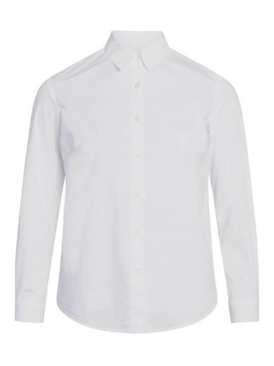 Knowledge Cotton Apparel Danica classic slim fit shirt Bright White