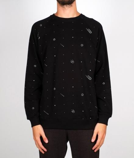 DEDICATED Sweatshirt Malmoe Comets black | L