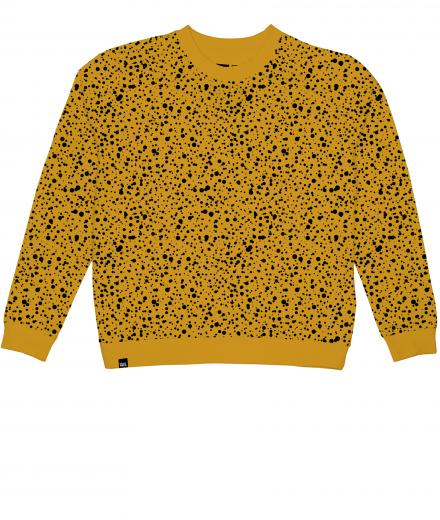 DEDICATED Sweatshirt Ystad Dots mustard | S
