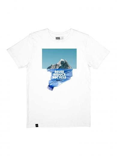 DEDICATED T-Shirt Stockholm Recycle Mountain White