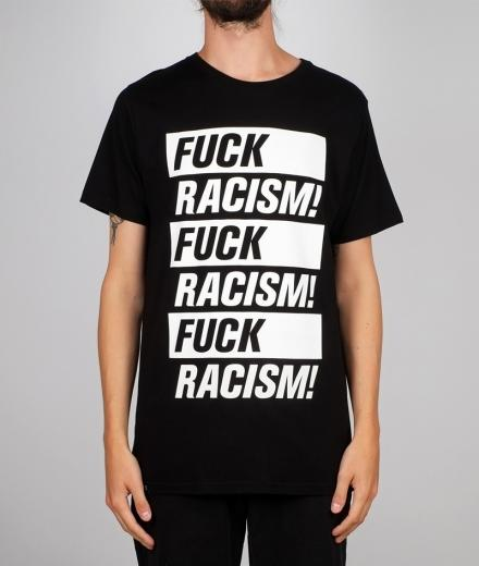 DEDICATED T-shirt Stockholm Fuck Racism black | M