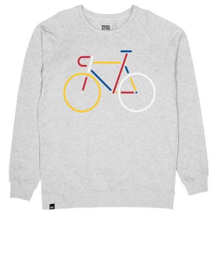 DEDICATED Men Sweatshirt Malmoe Color Bike