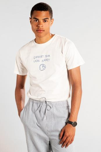 DEDICATED T-Shirt Stockholm Local Planet Off-White