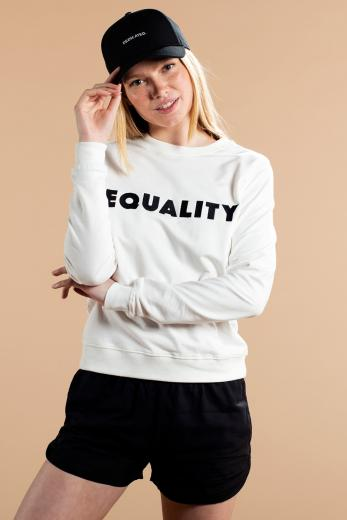 DEDICATED Sweatshirt Ystad Equality Off White