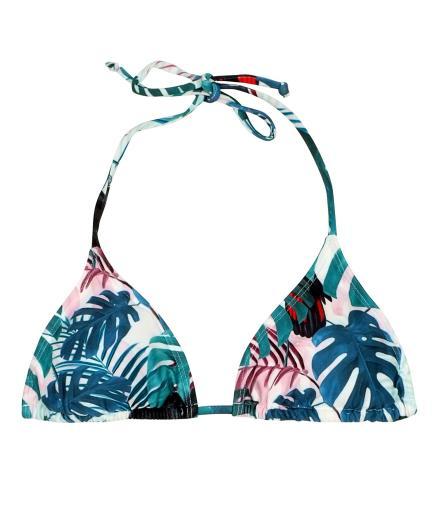 DEDICATED Bikini Top Sandnes Color Leaves