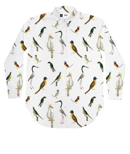 DEDICATED Shirt Fredericia Drawn Birds