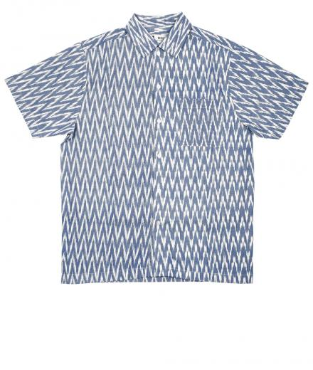 DEDICATED Shirt Short Sleeve Marstrand Handloom Zig Zag