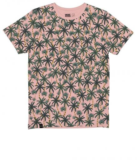 DEDICATED T-shirt Stockholm Beach Palms mellow pink | M