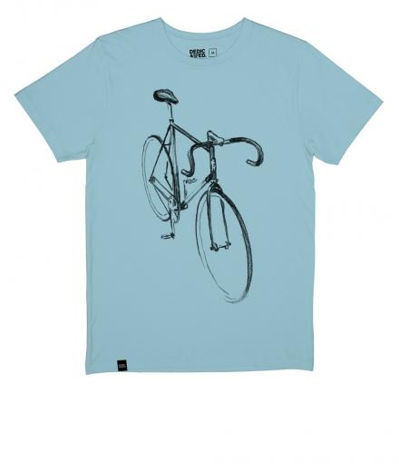 DEDICATED T-shirt Visby Drawn Bike beach blue | M