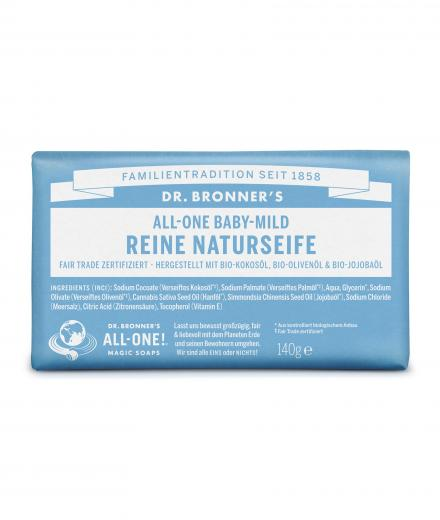 DR. BRONNER'S Bar Soap 140g Neutral-Mild