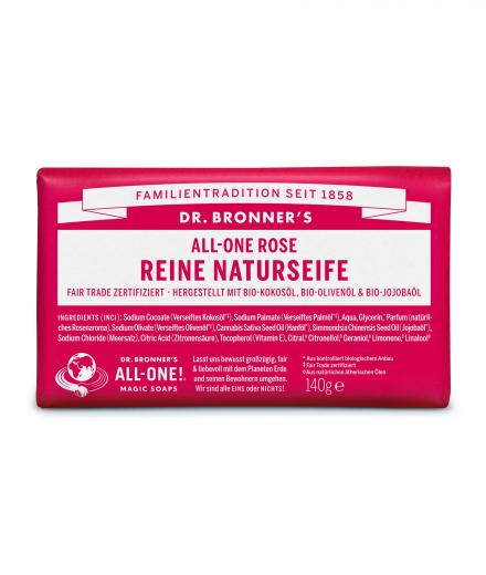 DR. BRONNER'S Bar Soap 140g Rose