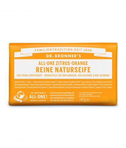 DR. BRONNER'S Bar Soap 140g Zitrus Orange