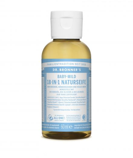 DR. BRONNER'S Liquid Soap Baby-Mild 60 ml