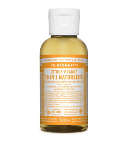 DR. BRONNER'S Liquid Soap Zitrus Orange 60 ml