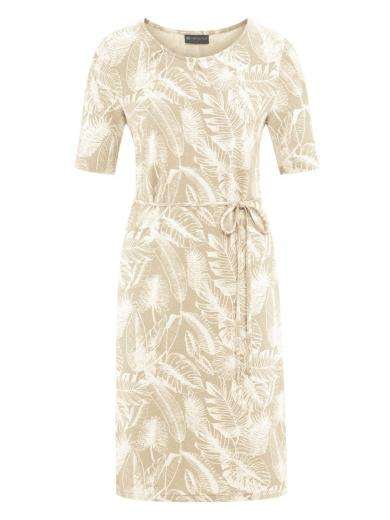 HempAge Dress Jungle Print Gobi