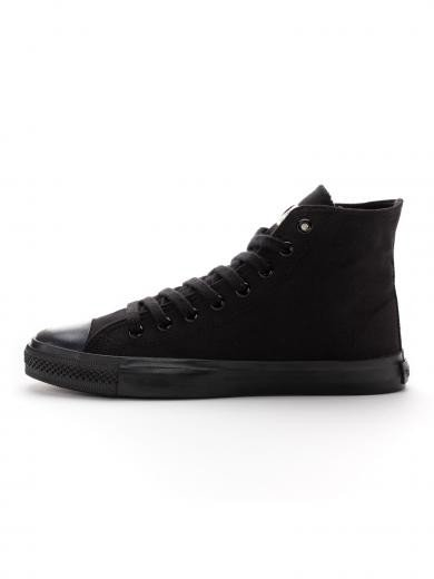 ETHLETIC Fair Trainer Black Cap Hi Cut Jet Black / Jet Black
