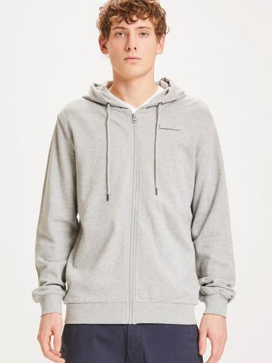 Knowledge Cotton Apparel Elm hood zip sweat