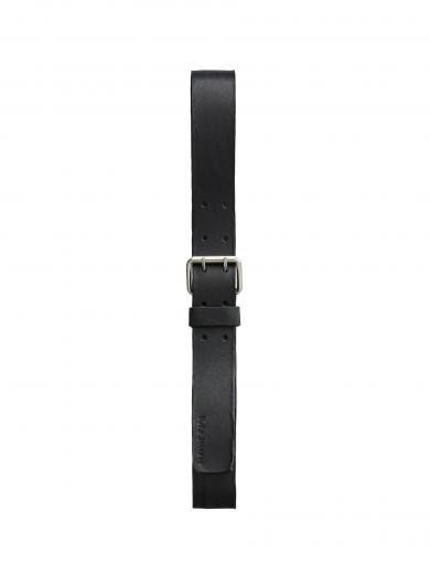 Nudie Jeans Emanuelsson Double Prong Belt black | 90cm