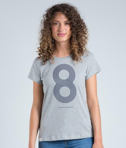eyd T-Shirt Eight Woman grey | M
