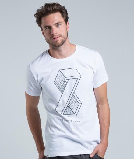 eyd T-Shirt Eight Men weiß | L