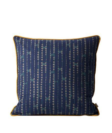 ferm LIVING Aligned Cushion Blue