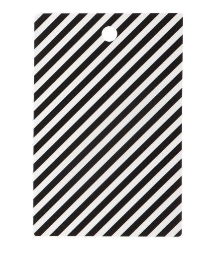 ferm LIVING Black Stripe Cutting Board
