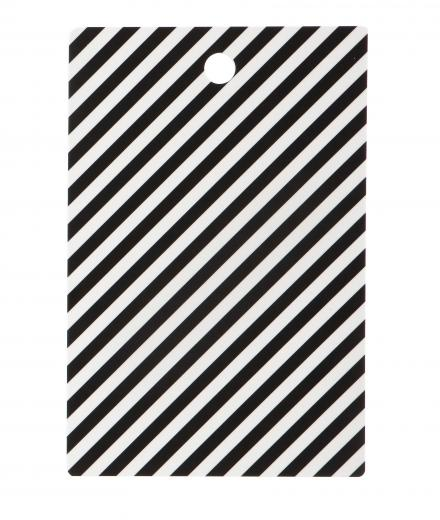 ferm LIVING Black Stripe Cutting Board