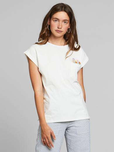 DEDICATED T-Shirt Visby Flower Pocket