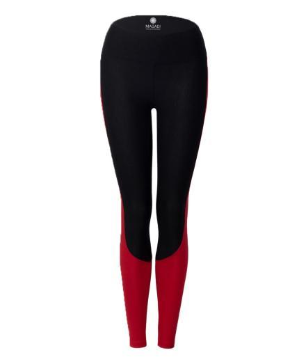 MAGADI Grace Leggings black/tango red | S