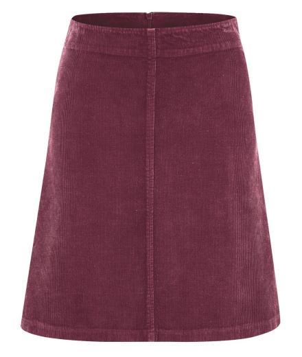 HempAge Cord Skirt rioja
