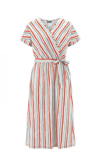 HempAge Dress Stripes Print crab | M