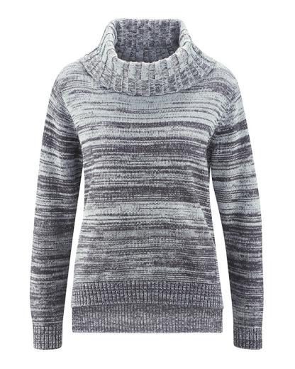 HempAge Pullover Bianca Platinum-Anthrazit | M