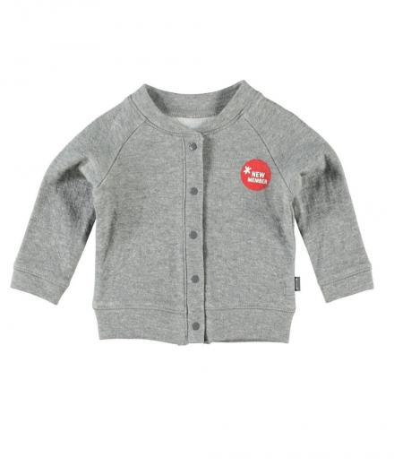 IMPS&ELFS Cardigan Long Sleeve mouse-grey | 80cm