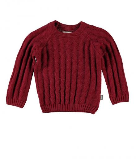 IMPS&ELFS Pullover Banana / Wine-Red