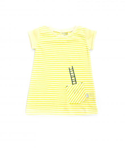 IMPS&ELFS Dress Short Sleeve 104 | White Skin/Party Yellow
