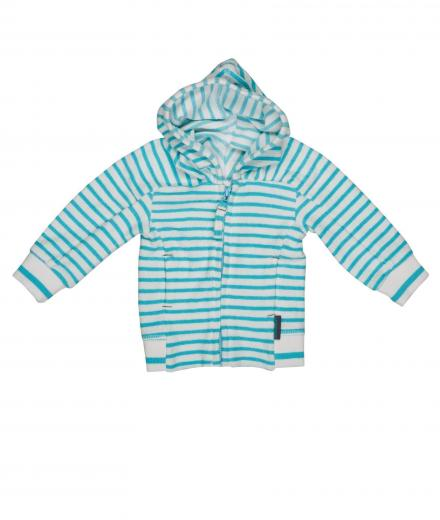 IMPS&ELFS Cardigan Hoody Long Sleeve 92 | white skin/ happy blue