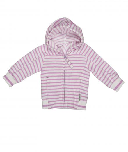 IMPS&ELFS Cardigan Hoody Long Sleeve 68 | white skin/ happy lila