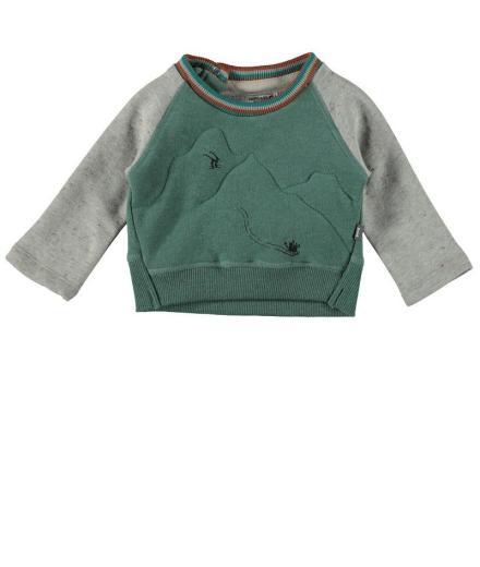 IMPS&ELFS Pullover Long Sleeve Sleigh farmer green melange | 104