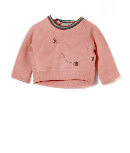 IMPS&ELFS Pullover Long Sleeve Sleigh shocking pink melange | 104