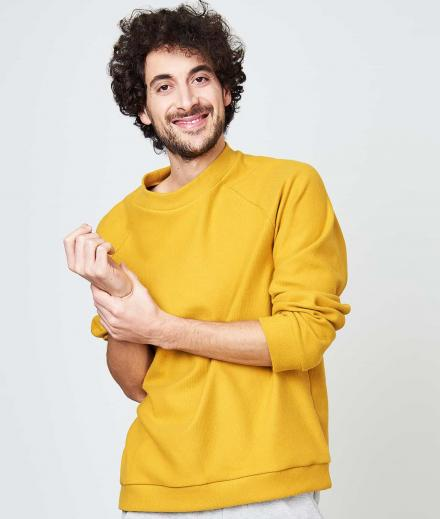 JAN 'N JUNE Sweatshirt Toulon mustard S