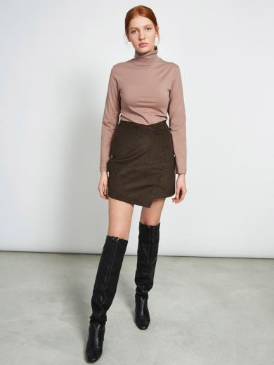JAN 'N JUNE Mini Skirt Guadalupe Corduroy brownblack