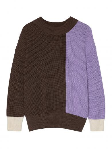 JAN 'N JUNE Knit Jumper Soho Tricolor greige lavender off white