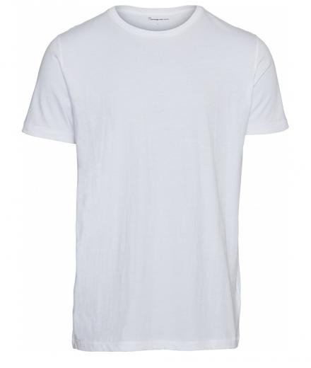 Knowledge Cotton Apparel Basic Regular Fit O-Neck Tee Bright White | M