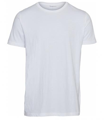 Knowledge Cotton Apparel Basic Regular Fit O-Neck Tee Bright White | XL