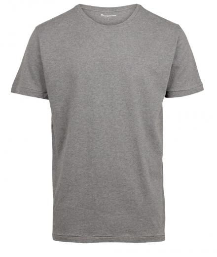 Knowledge Cotton Apparel Basic Regular Fit O-Neck Tee grey melange | XL