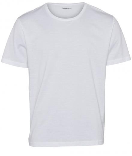 Knowledge Cotton Apparel T-Shirt Normal O-neck Bright White