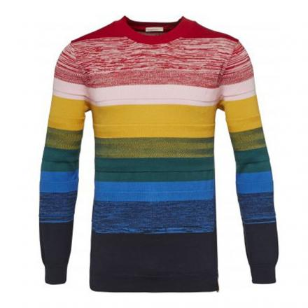 Knowledge Cotton Apparel Crew neck knit multicolour | S
