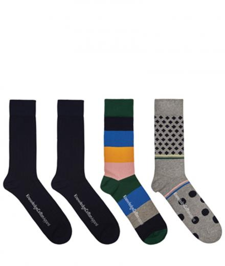 Knowledge Cotton Apparel Socks 4 Pack