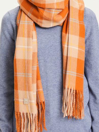 Knowledge Cotton Apparel Madeline Woven Scarf orange